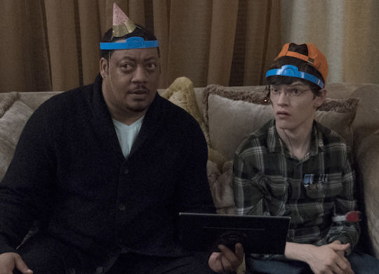"""SPEECHLESS - """"G-A-- GAME N-I-- NIGHT"""" - When Maya insists that it's time to meet Izzy, a reluctant JJ arranges a game night for his family and new girlfriend. Ray tries to help on the big night, but his attention to detail puts a major crimp in JJ's evening. Meanwhile, Dylan and Kenneth let their appetites get the better of them on an all-new episode of """"Speechless,"""" airing FRIDAY, FEB. 22 (8:30-9:00 p.m. EST), as part of the new TGIF programming block on The ABC Television Network. (ABC/Richard Cartwright) CEDRIC YARBROUGH, MICAH FOWLER, KAYLA MAISONET"""
